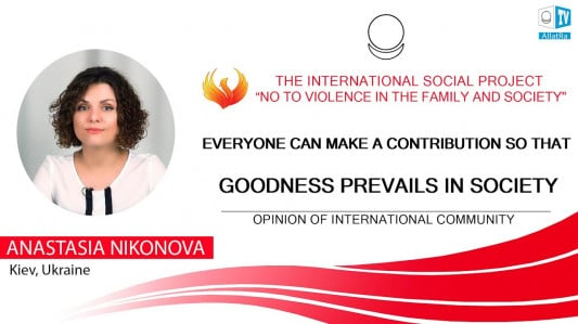EVERYONE CAN MAKE A CONTRIBUTION SO THAT GOODNESS PREVAILS IN SOCIETY